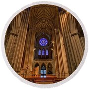 Washington National Cathedral Crossing Round Beach Towel