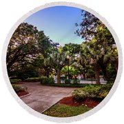 Round Beach Towel featuring the photograph Washington Square In Mobile Alabana V3 by Michael Thomas