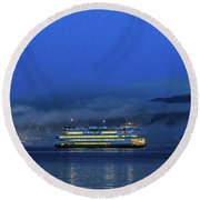 Washington State Ferry Hyak Round Beach Towel