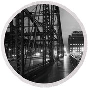 Washington Street Bridge Round Beach Towel