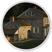 Washington's Headquarters At Valley Forge Round Beach Towel by Cindy Manero