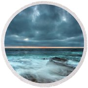 Washover Round Beach Towel by Peter Tellone