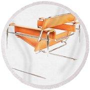 Wassily Chair Mid-century Modern Round Beach Towel by Edward Fielding