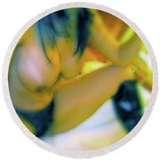 Round Beach Towel featuring the painting Wasted Play by Iconic Images Art Gallery David Pucciarelli
