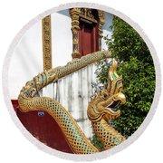 Wat Chiang Chom Phra Wihan Naga Dthcm0892 Round Beach Towel