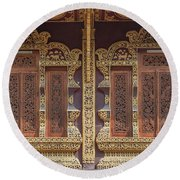 Wat Chiang Chom Phra Wihan Windows Dthcm0890 Round Beach Towel