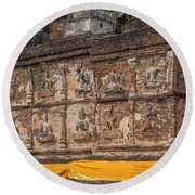 Wat Jed Yod Frieze Of Angels Or Deities On Maha Vihara Jedyod Dthcm0903 Round Beach Towel