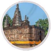 Wat Jed Yod Maha Vihara Jedyod Dthcm0902 Round Beach Towel