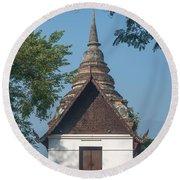 Wat Jed Yod Phra Ubosot Dthcm0967 Round Beach Towel