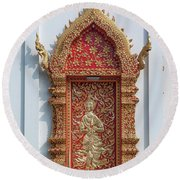 Wat Jed Yod Phra Wihan Rear Door Dthcm0916 Round Beach Towel