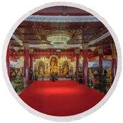 Wat Pa Dara Phirom Phra Chulamani Si Borommathat Interior Dthcm1607 Round Beach Towel