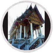 Wat Sawangfa 11 Round Beach Towel