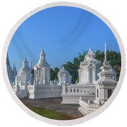 Wat Suan Dok Reliquaries Of Northern Thai Royalty Dthcm0945 Round Beach Towel by Gerry Gantt