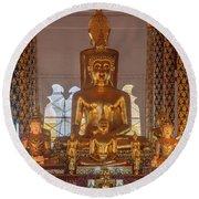 Wat Suan Dok Wihan Luang Buddha Images Dthcm0952 Round Beach Towel