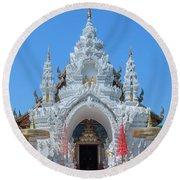 Wat Sun Pa Yang Luang Wihan Luang Gate Dthlu0315 Round Beach Towel