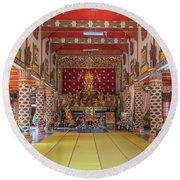 Wat Thung Luang Phra Wihan Interior Dthcm2104 Round Beach Towel