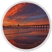 Watch More Sunsets Than Netflix Round Beach Towel