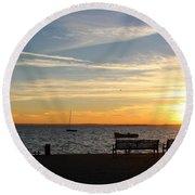 Watch Sunset Round Beach Towel