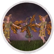 Watching Over You Round Beach Towel by Betsy Knapp