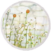 Watching The Clouds Go By No 2 Round Beach Towel