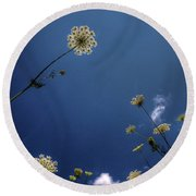 Watching The Day Float By Round Beach Towel