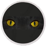 Watching You Round Beach Towel