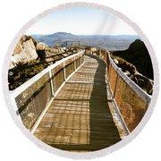 Watchtower Lookout, Ben Lomond, Tasmania Round Beach Towel