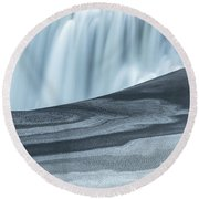 Round Beach Towel featuring the photograph Water And Ash by Dustin LeFevre