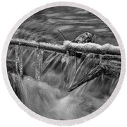 Water And Ice 2 Round Beach Towel
