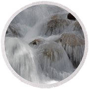 Water And Stone- Dance Of The Elements Round Beach Towel