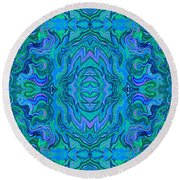 Water Art Pattern  Round Beach Towel
