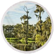 Water Byways Round Beach Towel by Steven Parker