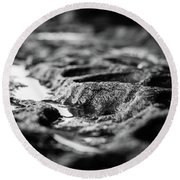 Water Carvings Round Beach Towel