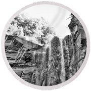 Water Falls Round Beach Towel