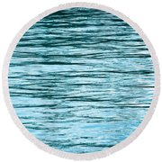 Water Flow Round Beach Towel
