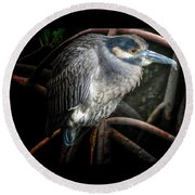 Water Fowl Iv Round Beach Towel