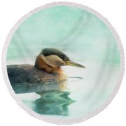 Water Fowl Round Beach Towel