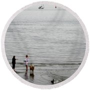 Water Fun Round Beach Towel