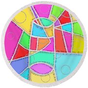Water Glass Of Light And Color Round Beach Towel by Jeremy Aiyadurai