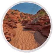 Water Hole Canyon Round Beach Towel by David Cote