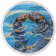 Water Kisses Round Beach Towel