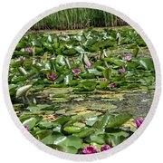 Water Lilies At Giverny - 2 Round Beach Towel