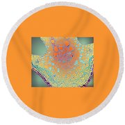 Water Lily Homage Round Beach Towel