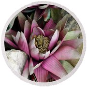 Water Lily - Seerose Round Beach Towel
