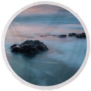 Water Music Round Beach Towel