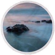 Water Music Round Beach Towel by Mark Alder