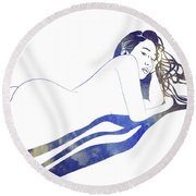 Water Nymph II Round Beach Towel