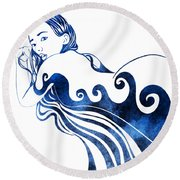 Water Nymph IIi Round Beach Towel