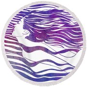 Water Nymph Vi Round Beach Towel
