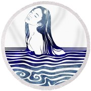 Water Nymph Viii Round Beach Towel